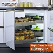 2018 eco friendly stainless steel kitchen cabinet storage pull out magic corner drawer basket bs1105l from mixzone 361 4 dhgate com