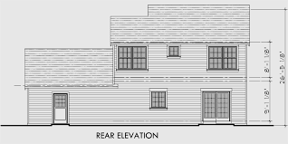 House Front Drawing Elevation View For 10127 Two Story House Plans, 3  Bedroom House Plans