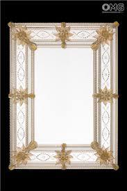 riccardo gold wall venetian mirror murano glass