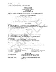 Security Guards Resume Purchase Order Template Pdf
