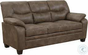 Meagan Brown Living Room Set Coaster Furniture