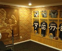 notre dame football locker room mural by tom taylor of mural art llc in florida traditional