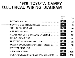 1989 toyota camry wiring diagram manual original covers all 1989 toyota camry models including deluxe and le this book measures 11 x 8 5 and is 0 25 thick buy now for the best electrical information