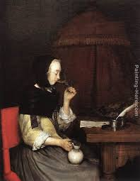 a woman drinking wine painting gerard ter borch a woman drinking wine art painting