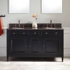 90 Bathroom Vanity 60 Hawkins Mahogany Double Vanity For Undermount Sink Black