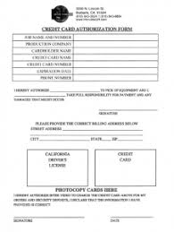 Credit Card Authorization Form « Inter Video Production Equipment ...