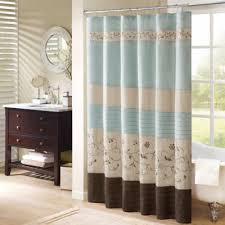 brown fabric shower curtains. Madison Park Serene Shower Curtain Brown Fabric Curtains