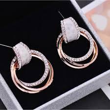 <b>2019</b> New Trendy Korean Simple Earrings Arrival <b>Zinc Alloy Classic</b> ...