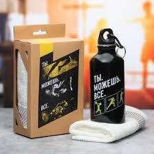 Набор «<b>Ты</b> можешь всё»: <b>бутылка</b> для воды 400 мл, полотенце ...