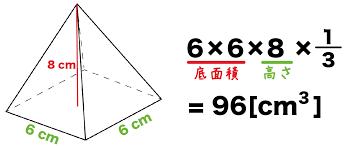 四 角錐 体積 の 求め 方