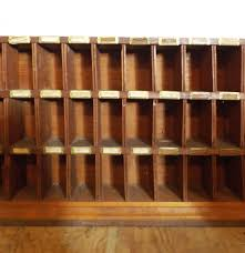 Vintage Wooden Post Office Mail Sorter Cabinet : EBTH