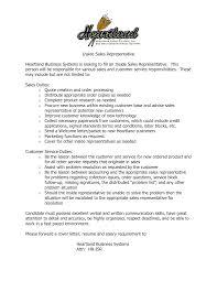 Inside Sales Rep Resume Inside Sales Rep Yralaska Com