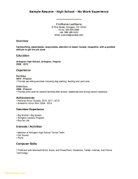 Resume Templates For No Work Experience Elegant 28 Sample Resume For