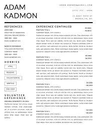 Adam Kadmon Resume Template Stand Out Shop