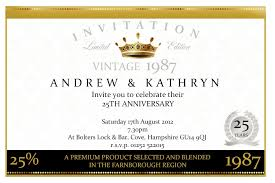 sle invitation cards for 25th marriage anniversary new 33 magnificent 25th wedding anniversary invitation cards free