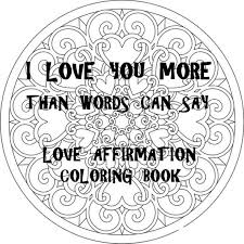 Small Picture Love Coloring Book 20 Instant Download Coloring Pages PDF