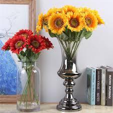 <b>10pcs</b>/<b>set Artificial Sunflower</b> Artificial Flower Silk Flower Fake Plant ...