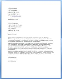 Entry Level Resume Cover Letter Examples Lab Technician Cover Letter Sample Pharmacy Technician Cover Letter