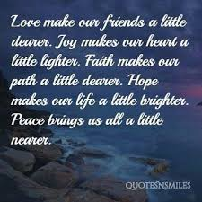 Love Peace Quotes Stunning Love Is Peace Quotes Also Love Joy Faith Hope Peace For Make