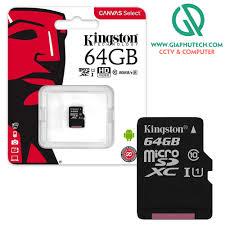Thẻ nhớ Micro SD 64GB - Kingston - Chính hãng FPT