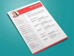 Free Trendy Word Resume Template With Modern And Clean Design