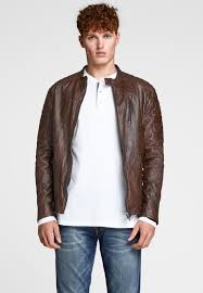 leather jacket light brown