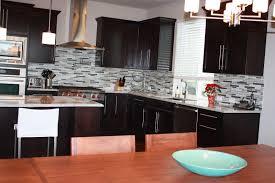 stone kitchen backsplash dark cabinets. Delighful Dark Kitchen Backsplash Ideas With Cherry Cabinets Wooden Varnished Uba Tuba   For Stone  Throughout Dark R