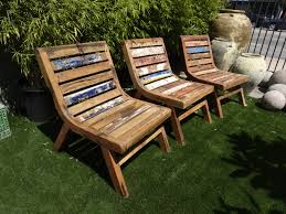 reclaimed boat wood lounge chair