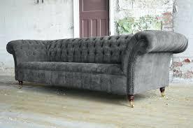 grey chesterfield sofa modern handmade 3 slate grey velvet chesterfield sofa couch chair grey chesterfield sofa