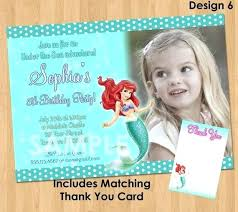 Little Mermaid Birthday Party Invitations Personalized Ariel