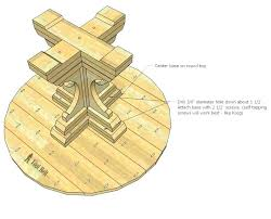 wood pedestal table base for glass top how to build a round free woodworking kitchen exciting