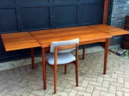 refinished danish mid century modern teak dining table by henning kjaernulf