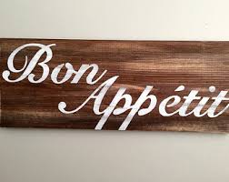 Bon Appetit Wall Decor Plaques Signs Bon Appetit Etsy 20