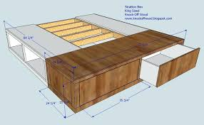 platform bed with drawers plans. Platform Bed With Drawers Plans Queen Storage  King Y