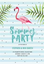 Party Invitaion Templates Chill With Flamingo Printable Summer Party Invitation Template