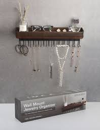 Wall Jewelry Organizer Amazoncom Jack Cube Hanging Jewelry Organizer Necklace Hanger