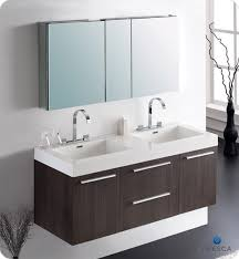 modern double sink bathroom vanities. 54\u201d Fresca Opulento (FVN8013GO) Gray Oak Modern Double Sink Bathroom Vanity W/ Medicine Cabinet Vanities E