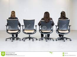 desk chairs for women. Unique Chairs Rear View Of Three Business Women Sitting In A Line Four Office Chairs  Waiting For One More Person To Start The Meeting For Desk Chairs Women R