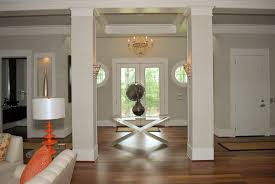 small foyer lighting ideas. brilliant lighting the subtle lines on the walls and columns add visual interest to light  taupe paint intended small foyer lighting ideas
