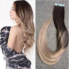 7a 100 remy human hair tape in hair extensions ombre balayage color 20pcs 50g