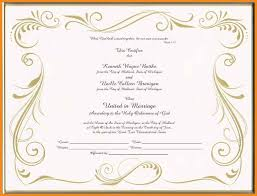 Blank Marriage Certificate Template Art Resume Examples