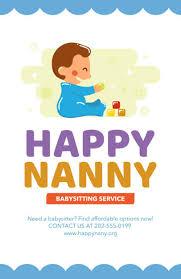 Babysitter Flyer Maker Babysitter Online Flyer Maker 326d