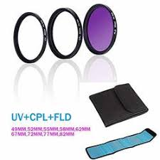 Buy FidgetGear UV + <b>CPL</b> + FLD Filter Super Slim SLR Camera ...