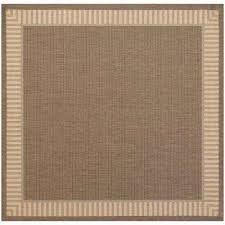 recife wicker stitch cocoa natural 9 ft x 9 ft square indoor