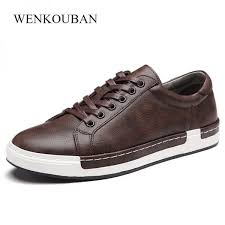 men multicolor lace up casual sneakers casual leather shoes