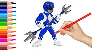 Small Picture How to Draw Power Rangers Coloring Pages for Kids Superheroes