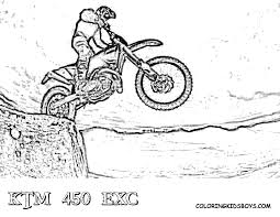 Dirt Bike Coloring Sheets Of Ktm