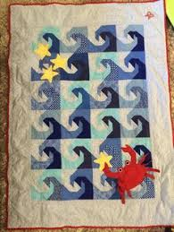 Ocean Life Baby Quilt - Shark in the Deep Blue Sea | Themed ... & Another view of my ocean- themed baby quilt for our lil' Hawaiian baby ~ Adamdwight.com