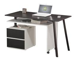 Foldable Wooden Office Desk With Cabinet And Side Table