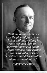 Calvin Coolidge Quotes Persistence Stunning Persistence And Determination By Calvin Coolidge Quotes